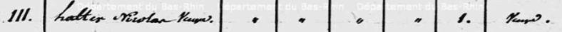 Ottrott-le-Bas, recensement de 1819, n° 111 Halter Nicolas Veuve
