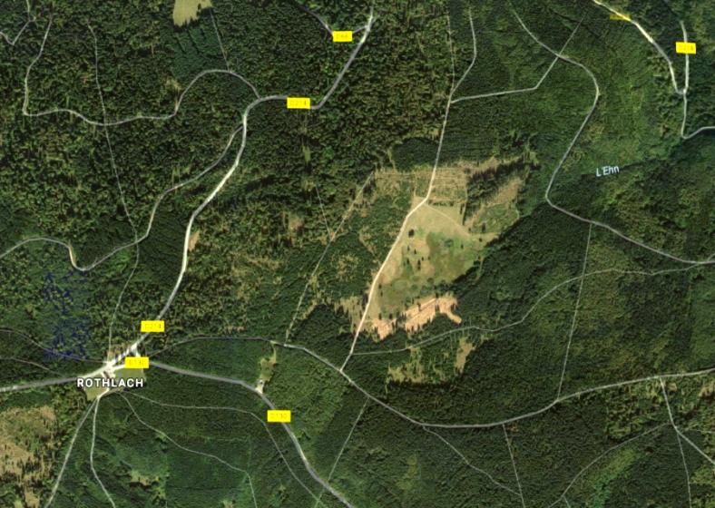 Google Maps, La Soutte en vue aérienne