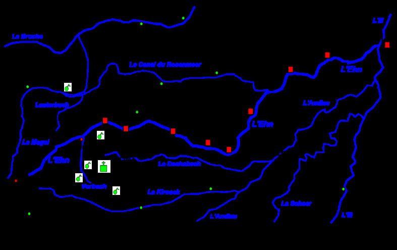 Carte du cours de l'Ehn