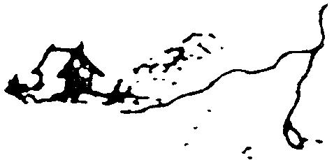 Pictogramme représentant une ferme ou métairie sur la carte de Cassini.