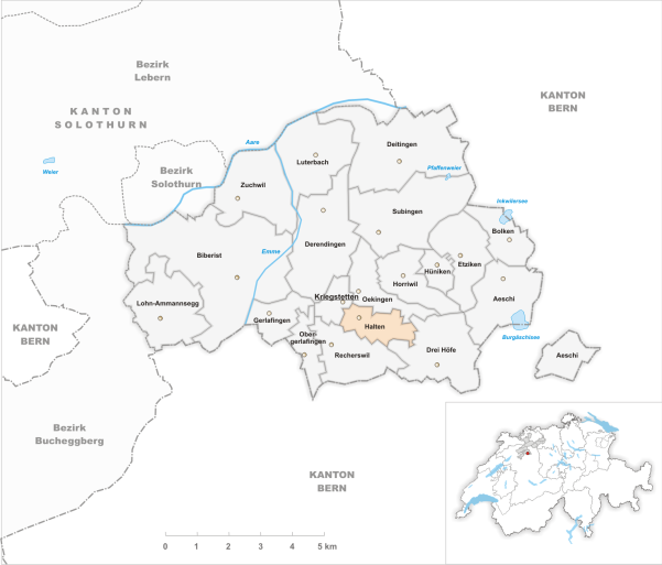 Halten et les communes du district de Wasseramt