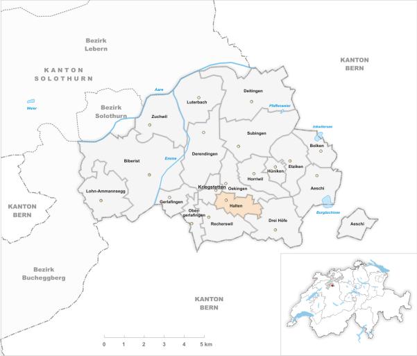 Halten et les communes du district de Wasseramt
