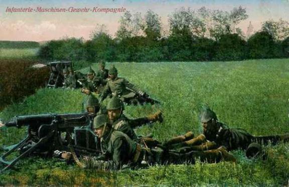 Infanterie-Maschinen-Gewehr-Kompagnie. Compagnie d'infanterie de mitrailleuses.